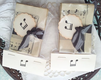 Coffee Stained Sheet Music Tags Set of 100