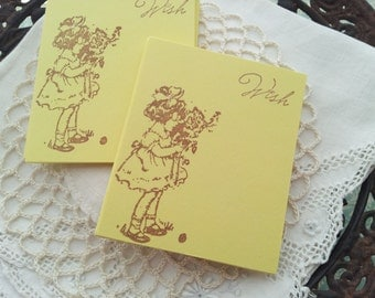 Baby Shower or Birthday Mini Wish Cards Little Girl Set of 25