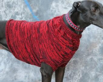 Greyhound Sweater vest, red/black brindle, large