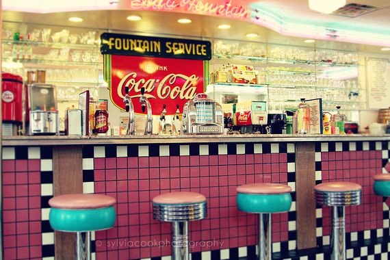Items similar to Retro home decor quot;Retro dinerquot;, wall art, soda