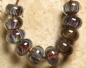 Violet ShadeBORO Lampwork beads 10