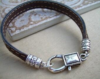 Bracelet, Leather Bracelet,  Leather Alternative, Mens Jewelry, Womens Jewelry, Vegan Friendly, Eco Friendly, Brown