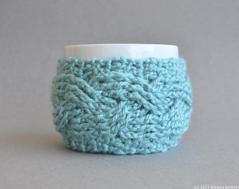 Crochet Pattern, Crochet Cup Cozy Pattern, Crochet Coffee Sleeve Pattern, Crochet Coffee Cozy Pattern, Crochet Mug Cozy, Crochet Tea Cozy