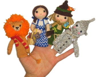The Wizard of Oz Finger PUPPETS PDF Emal Knit PATTERN