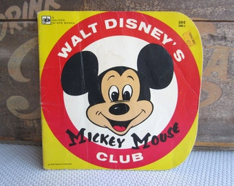 Vintage Walt Disney's Mickey Mouse Club Book Golden Shape Book