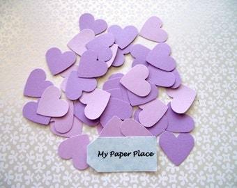 WEDDING HEART CONFETTI - 100 - Shades of Lilac - Free Secondary Shipping