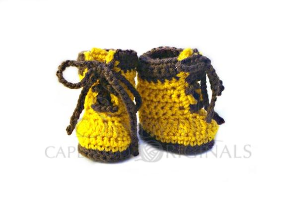 Baby Work Boots Crochet Pattern PDF 695