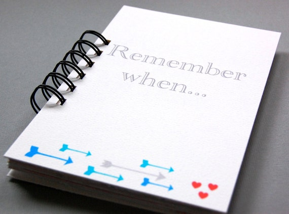 Remember when love journal couples paper anniversary
