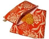 Dandelions on Orange Sandwich and Snack Bag Set, Reusable