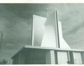 San Francisco CA Modern Architecture Art Building 1960s Vintage Black And White Photo Photograph