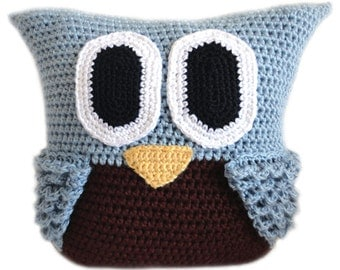 Owl Pillow - PDF Crochet Pattern - Instant Download