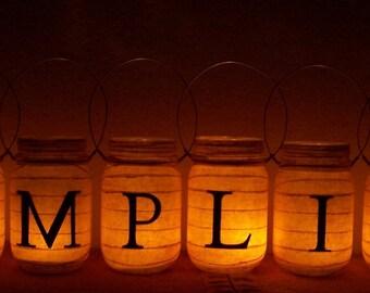 Primitive 8 Piece 'Simplify' Luminary Centerpiece Lantern Set