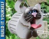Siamese Cat Birdhouse 3-Page Plan and Templates