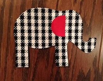 Elephant Iron On Applique, You Choose Fabric