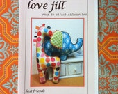 Pattern by lovejill - Piper and Sprout Elephant and Giraffe baby sensory stimulation stuffed toys