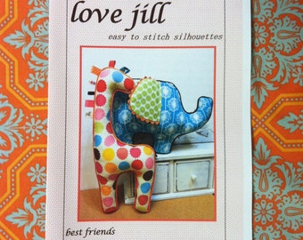 Pattern by lovejill -- Piper and Sprout Elephant and Giraffe baby sensory stimulation stuffed toys