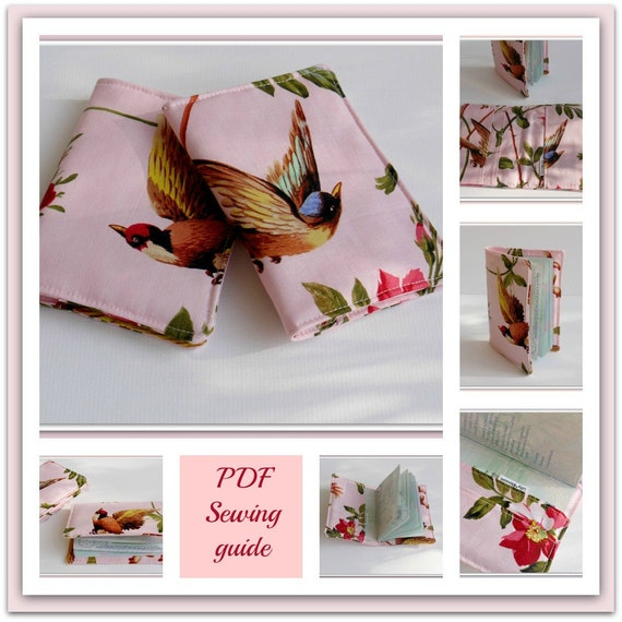Book Cover Sewing Guide : Pdf sewing guide passport holder with inside pocket