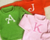 Custom for you: GIRL'S Baby/Toddler Cotton Initial Sweater - 12 mo. to 3 yrs.