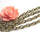 Antique bronze chain 3mm x 4mm links lead free nickle free oval link iron cross 10 ft jewelry fnding CHT1