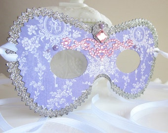 Pink and Purple Toile Princess Mask