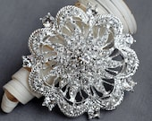 Rhinestone Brooch Embellishment Crystal Pearl Wedding Brooch Bouquet Cake Decoration Hair Comb Shoe Clip BR072