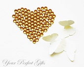 1000 Acrylic Round Faceted Flat Back Rhinestone 4mm Gold Topaz Yellow FREE shipping US Scrapbooking Nail Art LR097