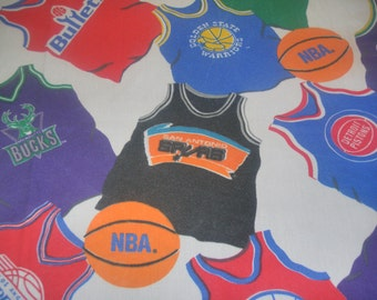 Vintage NBA Basketball Teams Twin Size FITTED  Sheet