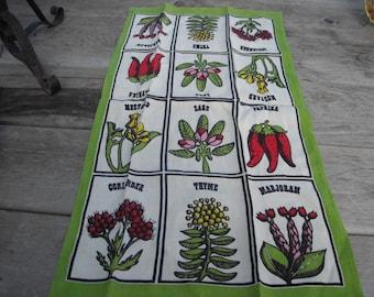 Vintage Herb Tea Towel