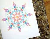Colorful Snowflake Winter Cards any occasion Watercolors ecofriendly