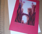 Reserved for elly ice - Large Art Card - 5x7 folded printed blank inside with envelope