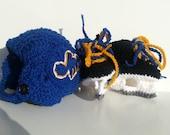 St Louis Blues Helmet and Ice Skate Booties, NHL Blues, Hockey Skates