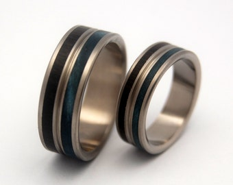 wedding ring, titanium rings, wood rings titanium wedding ring, men's ring, women's ring - MESMERIZE