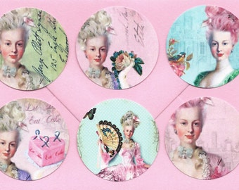 Stickers, French Style, Marie Antoinette, Marie Stickers