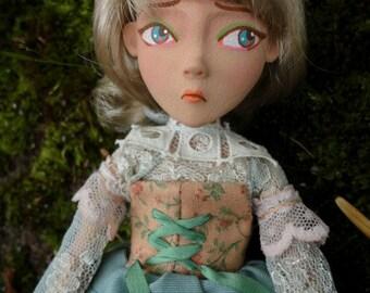 OOAK Original Custom order Mary Magpie MudCakes art doll girl