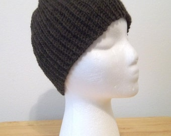 Crochet Cap in Coffee Brown