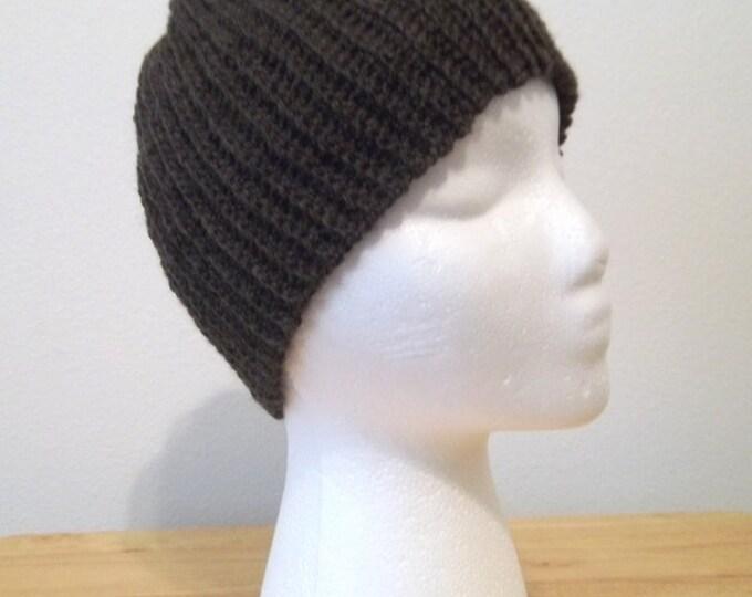Hat - Crochet Cap in Coffee Brown - Unisex