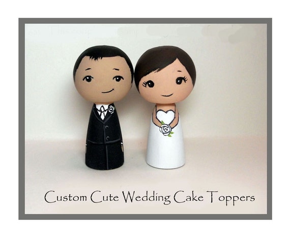 Cute Custom Wedding Cake Toppers