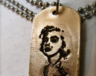 Marilyn Bronze Dog Tag