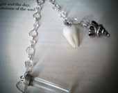 Necklace with Tooth and Quartz