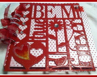 Premade Scrapbook/Album Red Be My Forever