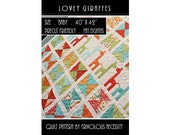 Quilt Pattern PDF Lovey Giraffes Baby Applique -- Fat Eighth Friendly