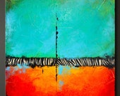 In The Wild - 24 x 24 - Abstract Acrylic Painting - Contemporary Wall Art