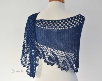 OSWIN, Crochet shawl pattern, PDF
