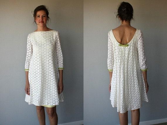 1960s Party Dress 60s Dress Lace Dress By