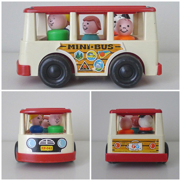 Vintage Toy Car 1960s Fisher Price Mini Bus No. By