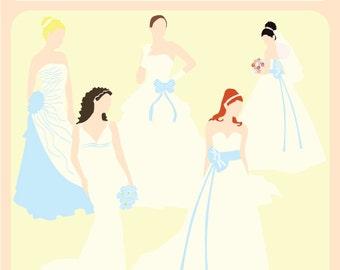 Bridal Silhouettes Blue