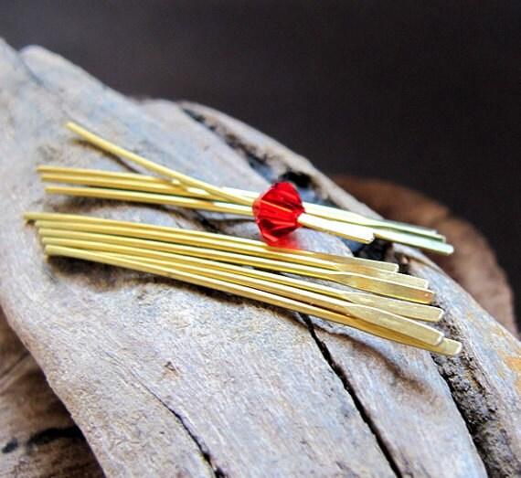 Basket Making Supplies New York : Antiqued slim sticks in copper for dangles earrings