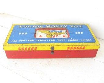 1950's Tin Toy Lock Box, Ohio Art