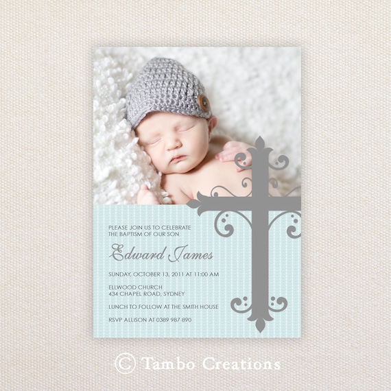 Baby Boy Christening Invitations was adorable invitation example