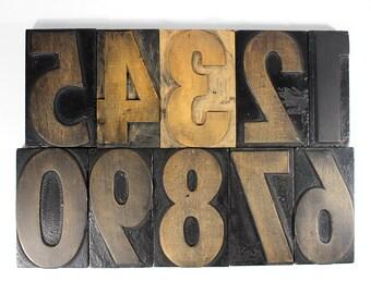 "6"" Numbers Wooden Letterpress"